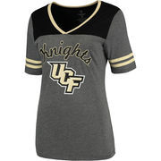 Women's Colosseum Heathered Gray UCF Knights Twist V-Neck T-Shirt