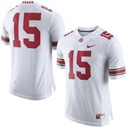 Men's Nike White Ohio State Buckeyes No. 15 Limited Football Jersey