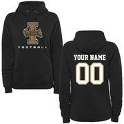 Idaho Vandals Women's Personalized Football Pullover Hoodie - Black