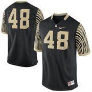 Men's Nike #48 Black Wake Forest Demon Deacons Game Replica Jersey