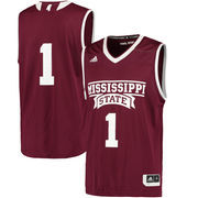 Men's adidas Maroon Mississippi State Bulldogs Replica Basketball Jersey