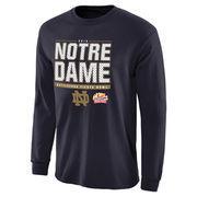 Men's Navy Notre Dame Fighting Irish 2016 Fiesta Bowl Bound Snap Long Sleeve T-Shirt