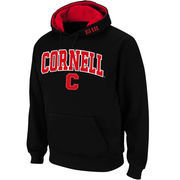 Men's Stadium Athletic Black Cornell Big Red Arch & Logo Pullover Hoodie
