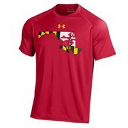Men's Under Armour Red Maryland Terrapins On-Field 2-Hit Graphics Performance T-Shirt
