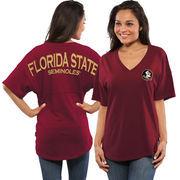 Women's Garnet Florida State Seminoles Spirit Jersey Oversized T-Shirt
