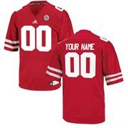 adidas Nebraska Cornhuskers Team Color Replica Football Jersey - Scarlet
