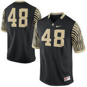 Men's Nike #48 Black Wake Forest Demon Deacons Game Replica Jersey