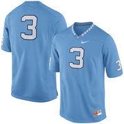 Men's Nike #3 Carolina Blue North Carolina Tar Heels Football Jersey