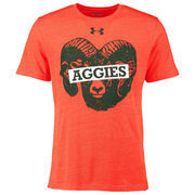 Men's Under Armour Orange Colorado State Rams Throwback Gameday Tri-Blend T-Shirt