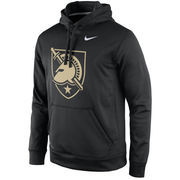 Men's Nike Black Army Black Knights Practice Performance Hoodie