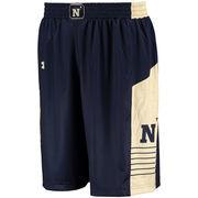 Men's Under Armour Navy Navy Midshipmen Replica Basketball Performance Shorts