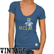 Original Retro Brand UCLA Bruins Women's Slim Fit V-Neck T-Shirt - True Blue
