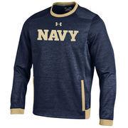 Men's Under Armour Navy Navy Midshipmen Momentum Storm Sweatshirt