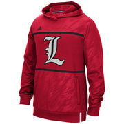 Men's adidas Red Louisville Cardinals 2015 Sideline Shock Energy Climalite Performance Hoodie