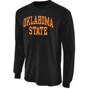Oklahoma State Cowboys Black Vertical Arch Long Sleeve T-shirt