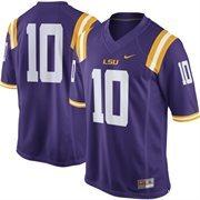LSU Tigers Nike #10 Replica Football Jersey - Purple