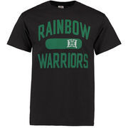 Men's Black Hawaii Warriors Athletic Issued T-Shirt