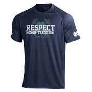 Men's Under Armour Navy Notre Dame Fighting Irish Respect Game Tech T-Shirt