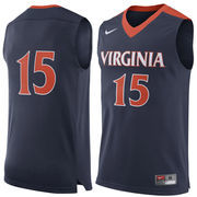 Men's Nike #15 Navy Virginia Cavaliers Replica Jersey