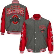 Mens Ohio State Buckeyes Scarlet 2014 College Football Playoff National Champions Commemorative 8-Time Champs Wool Jacket