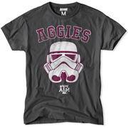 Men's Texas A&M Aggies Charcoal NCAA Star Wars T-Shirt
