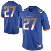 Nike Boise State Broncos #27 Game Football Jersey - Royal Blue