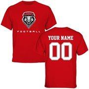 New Mexico Lobos Personalized Football T-Shirt - Cherry