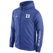 Men's Nike Royal Duke Blue Devils Circuit Full-Zip Performance Hoodie