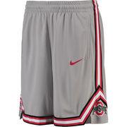 Men's Nike Gray Ohio State Buckeyes On Court Basketball Shorts