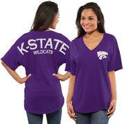 Women's Purple Kansas State Wildcats Spirit Jersey Oversized T-Shirt