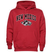 Mens Cherry New Mexico Lobos Arch Over Logo Hoodie