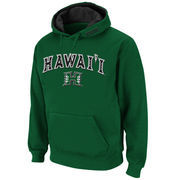 Men's Stadium Athletic Green Hawaii Warriors Arch & Logo Pullover Hoodie