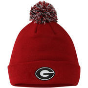 Mens Georgia Bulldogs Top of the World Red Simple Knit w/ Pom Beanie