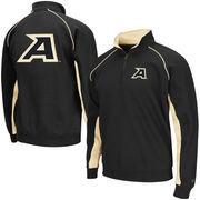 Men's Colosseum Black Army Black Knights Crest Quarter Zip Pullover Sweatshirt