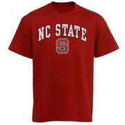 Men's New Agenda Red NC State Wolfpack Arch Over Logo T-Shirt