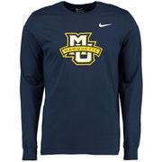 Men's Nike Navy Marquette Golden Eagles Big Logo Long Sleeve T-Shirt
