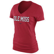 Women's Nike Cardinal Ole Miss Rebels Arch Mid V-Neck T-Shirt