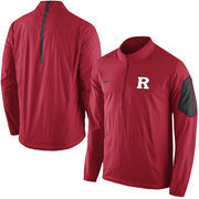 Men's Nike Red Rutgers Scarlet Knights Coaches Sideline Lockdown Half-Zip Wind Jacket