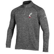 Men's Under Armour Heather Gray Cincinnati Bearcats Quarter-Zip Performance Jacket