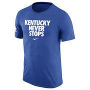 Men's Nike Royal Kentucky Wildcats Never Stops Practice T-Shirt