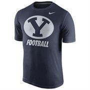 Men's Nike Navy BYU Cougars 2015 Sideline Dri-FIT Legend Logo T-Shirt