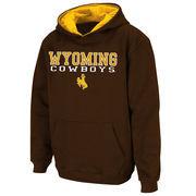 Youth Stadium Athletic Brown Wyoming Cowboys Stack II Hoodie