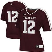 adidas Texas A&M Aggies #12 Women's Replica Football Jersey - Maroon