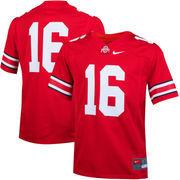 Youth Nike #16 Scarlet Ohio State Buckeyes Replica Football Jersey
