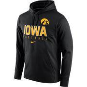 Men's Nike Black Iowa Hawkeyes Circuit Therma-FIT Performance Hoodie