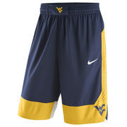 Men's Nike Navy West Virginia Mountaineers Replica On-Court Basketball Shorts
