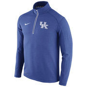 Men's Nike Royal Kentucky Wildcats 2015 Football Coaches Sideline Half-Zip Tri-Blend Performance Knit Top