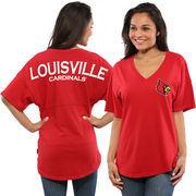 Women's Red Louisville Cardinals Spirit Jersey Oversized T-Shirt