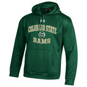 Men's Under Armour Forest Green Colorado State Rams MVP Logo Pullover Hoodie