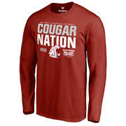 Men's Fanatics Branded Crimson Washington State Cougars 2016 Holiday Bowl Bound Nation Long Sleeve T-Shirt